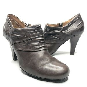 Sofft Florina Leather Bootie Side Zip Ankle Shooti